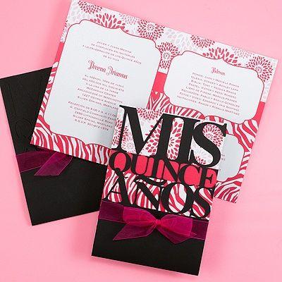 pretty patterns quinceanera invitation - Unique Quinceanera Invitations