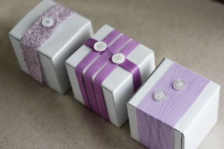 gift boxes with buttons. http://with--this--ring.blogspot.com/search/label/DIY%20Series