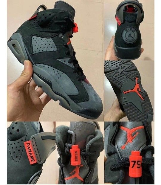 Air Jordan Retro 6 #PSG Iron Grey