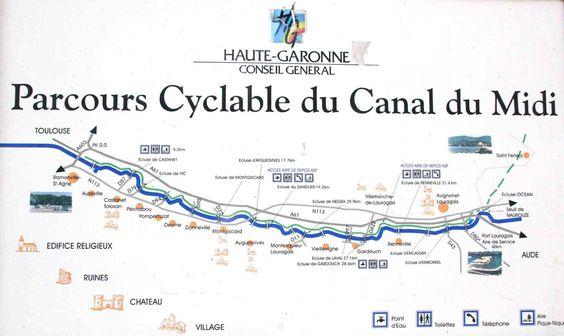 Parcours cyclable du Canal du midi – de Toulouse à Naurouze