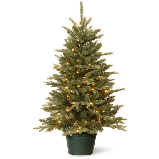3ft Pre Lit Everyday Collections Small Tree In Green Pot Clear Lights Small Artificial Christmas Trees National Christmas Tree Pre Lit Christmas Tree Small pre lit outdoor christmas trees