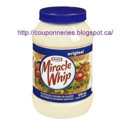 Coupons et Circulaires: *** 2,68$ Miracle Whip 890 ml ***