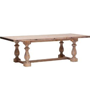Baltic Dining Table - I don't want to buy it, just use the idea for some old wooden legs I have in my garage.