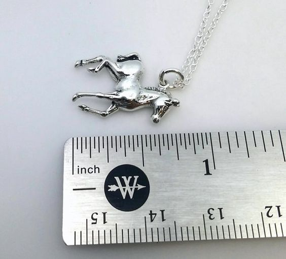 Pony necklace sterling silver horse necklace by TheWrenandRabbit