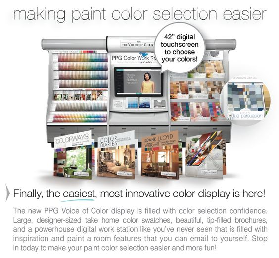 New Innovative Paint Color Kiosk, the PPG Color Work Station