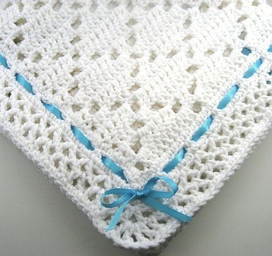 PDF Pattern Crocheted Baby Afghan, DIAMOND LACE Baby ...