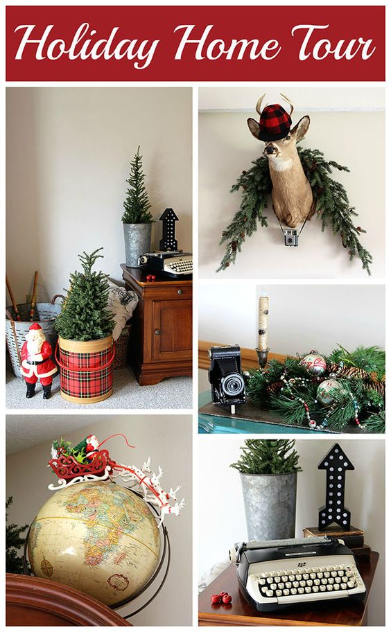 Christmas decorating ideas, Vintage and Decorating ideas