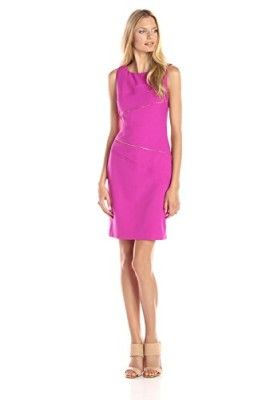 Ivanka-Trump-Womens-Sleeveless-Zipper-Detail-Sheath-Dress-0
