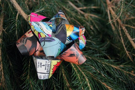 Paper Gift Bow / X-Men 1 Cover / Comic Book by SustainablePapiere
