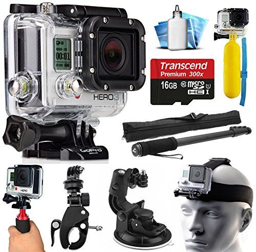 GoPro HERO3 Hero 3 Silver Edition Action Camera Camcorder with Extreme Action Sport Accessory Package includes 16GB MicroSD Card + Selfie Stick Portrait Monopod + Bike Handlebar Mount + Car Windshield Suction Cup + Head Helmet Strap + Floating Float Hand Grip Bobber + Mini Tripod + Dust Cleaning Care Kit (CHDHN-301)  http://www.lookatcamera.com/gopro-hero3-hero-3-silver-edition-action-camera-camcorder-with-extreme-action-sport-accessory-package-includes-16gb-microsd-card-selfie-stick..