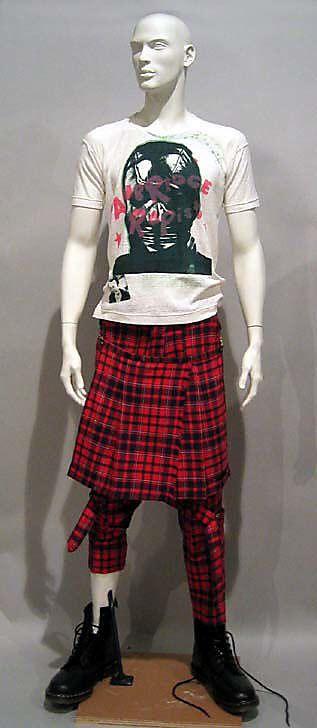 Vivienne Westwood (British, born 1941). Ensemble, 1977–79. Desinger: Malcolm McLaren (British, 1946–2010). Birtish. The Metropolitan Museum of Art, New York. Gift of Simon Doonan, 1986 (1986.244.1a–e) #punkfashion