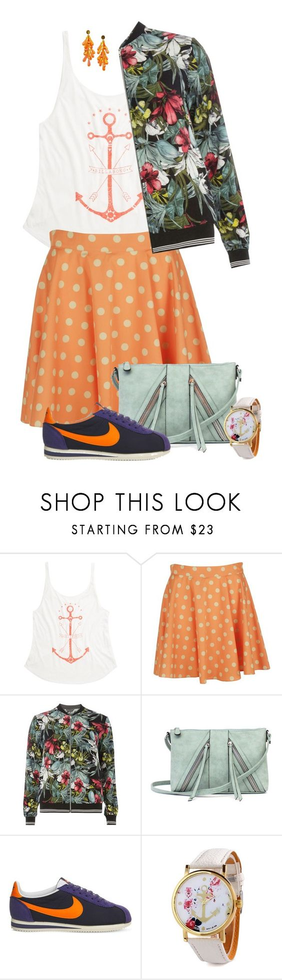 """""""Anchor my Heart"""" by feelgood35 ❤ liked on Polyvore featuring Billabong, Jeremy Scott, Dorothy Perkins, A.N.A and NIKE"""