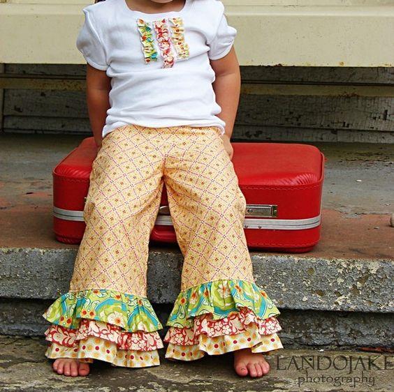 Ruffle pants- so cute!