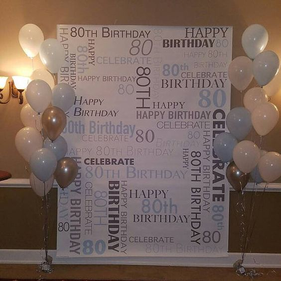 80th Wedding Anniversary Gift: CUSTOM 80th Birthday Party Backdrop Personalized Vinyl