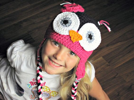 SALE  Rocker Chick Owl Hat  IN STOCK sizes 16yr by NoodleNoggins, $32.00
