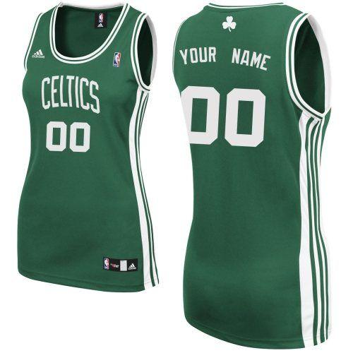 1ed296636 Customized Road Tailored Fit Design NBA Swingman Boston Celtics Women Green Adidas  Jerseys ...