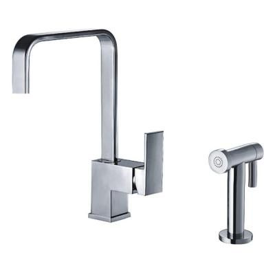Whitehaus Jem Collection Single-Handle Side Sprayer Kitchen Faucet in Polished Chrome-WH2070824-C at The Home Depot