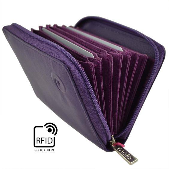 Damen weichem Leder, mit RFID-Schutz, Portemonnaie von Mala Classic in Geschenkbox, Violett - violett - Größe: Einheitsgröße: Amazon.de: Schuhe & Handtaschen