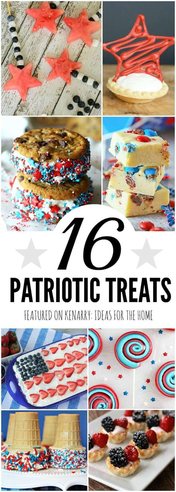 Patriotic Treats: 16 Red, White and Blue Ideas