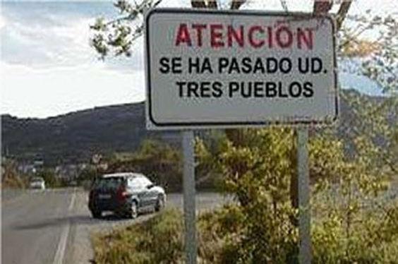 """¿Sabes qué significa la expresión """"pasarse tres pueblos""""? #Spanish:"""