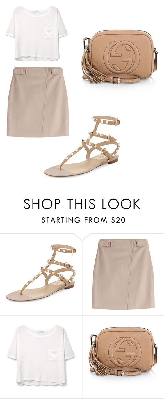 """Sin título #132"" by martacg2014 ❤ liked on Polyvore featuring Valentino, Steffen Schraut, MANGO and Gucci"