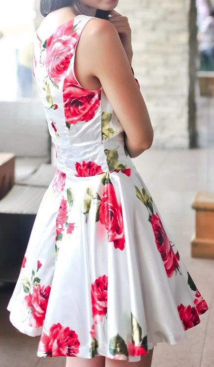 Rose Swing DressI have got to have this. I even have the fab just like this.
