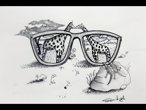 Draw Amazing Nature Scenery Pencil Sketches Youtube Eye Pencil Sketch Pencil Sketch Amazing Nature