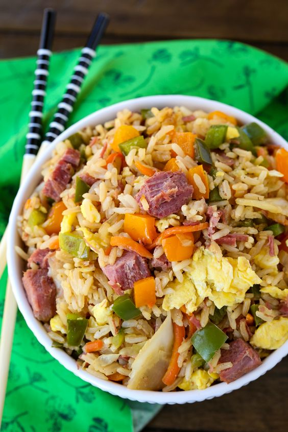 Corned Beef and Cabbage Fried Rice