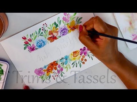 Free Hand Painting With Easy Tips For Beginners Diy Watercolor