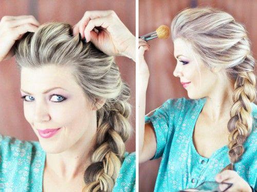 Diy Elsa Franzosisch Braid Frisur Von Frozen Blaumode Com Elsa Hair Hair Styles Braided Hairstyles