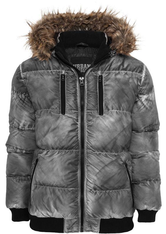 Urban Classics Spray Dye Expedition Jacket Herren Winterjacke Grau