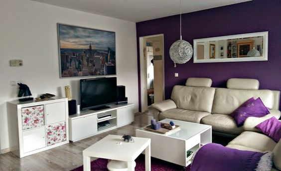 Gwenny´s Blog - #livingroom #renovieren #decorating #lila #white