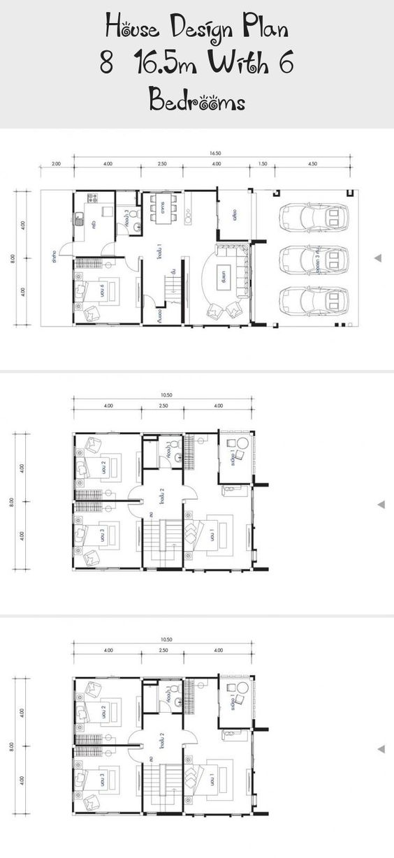 House Design Plan 8x16 5m With 6 Bedrooms Home Design With Plan Squarehouseplans Mountainhousepla Home Design Plans Brick House Plans Victorian House Plans