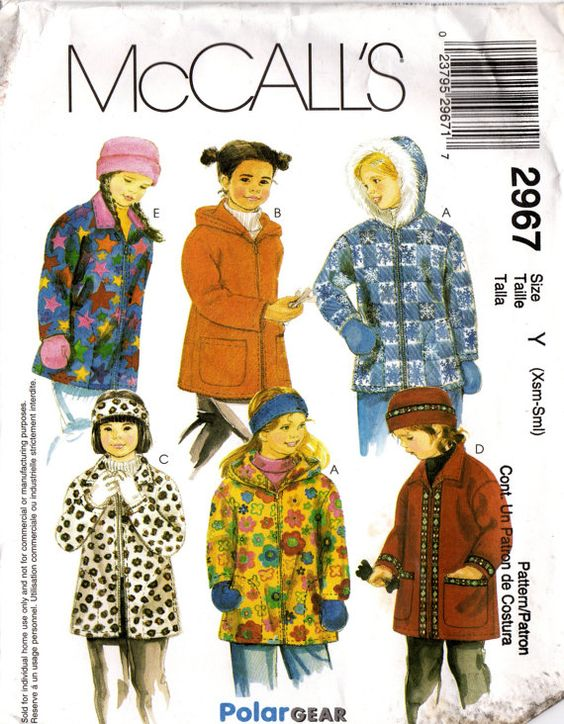 2000s McCall's 2967 UNCUT Sewing Pattern Girl's by midvalecottage