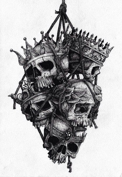 Skulls with crowns tattoos pinterest skulls and crowns for American revolutionary war tattoos