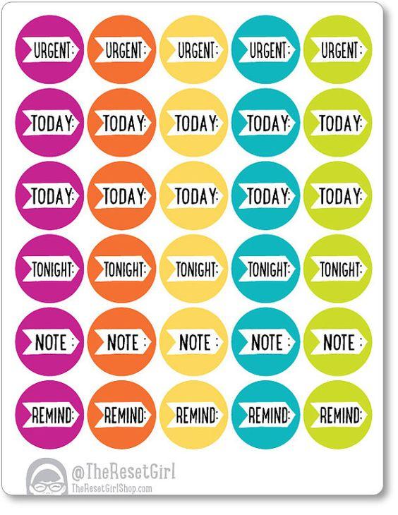 Calendar Planner Reminder Stickers : Gumball daily reminder stickers planner