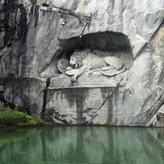 Walked to the famous dying lion monument today. It's actually very beautiful…