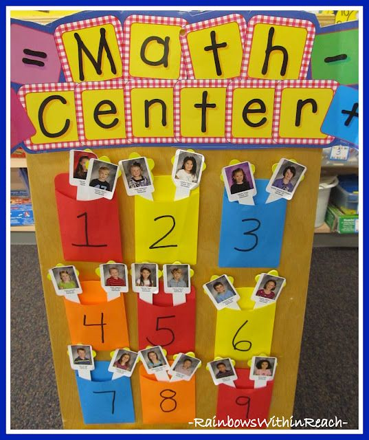 Child's photos on tongue depressors for centers....centers numbered