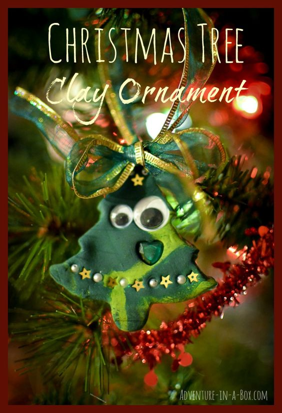 Our Christmas tree is up, and we need more ornaments! This time my son and I tried working with air-dry clay and made a bunch of Christmas tree ornaments.