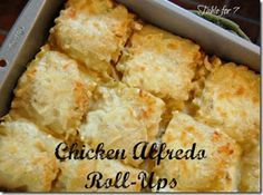 Chicken Alfredo Roll     Chicken Alfredo Roll-Ups