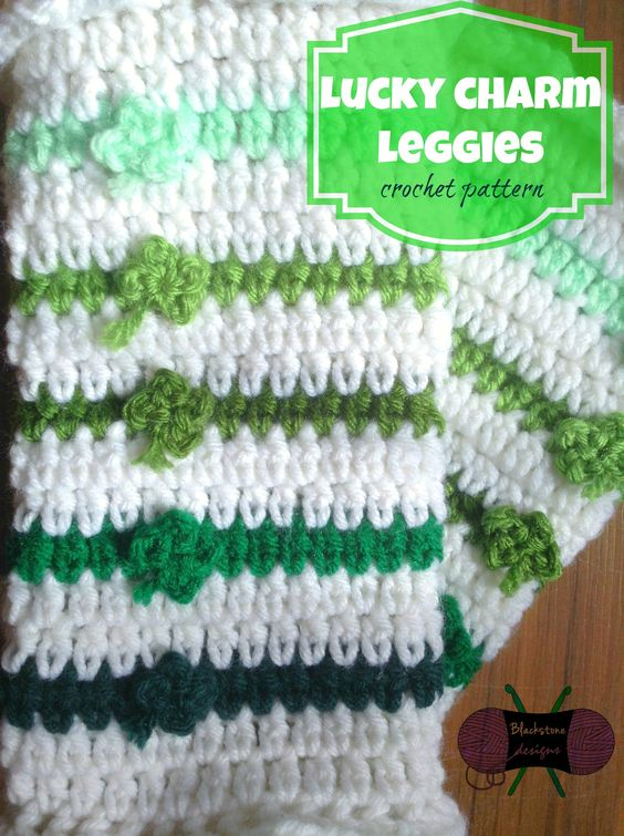 Who doesn't love dressing up for St. Patty's Day? Add a little pizzazz to your outfit with these fun Lucky Charm Leggies. Complete with ruffled edges, these legwarmers are so much fun! http://www.ravelry.com/patterns/library/lucky-charm-leggies $3.99