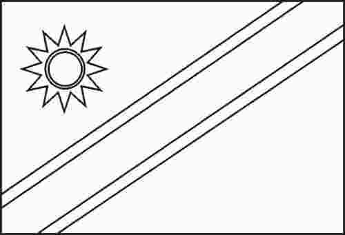 Namibia Flag Coloring Page Flag Coloring Pages Coloring Pages