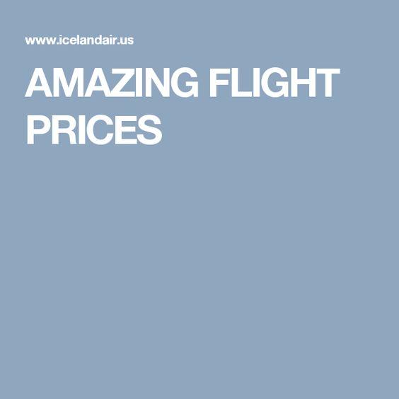 AMAZING FLIGHT PRICES