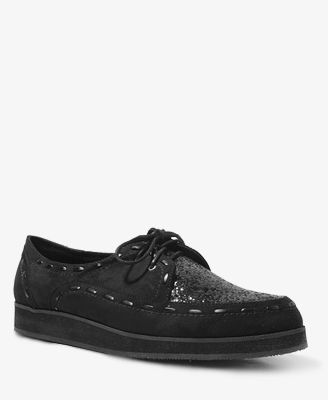 Glittered Faux Suede Oxford Creepers | FOREVER21 - 2040495817