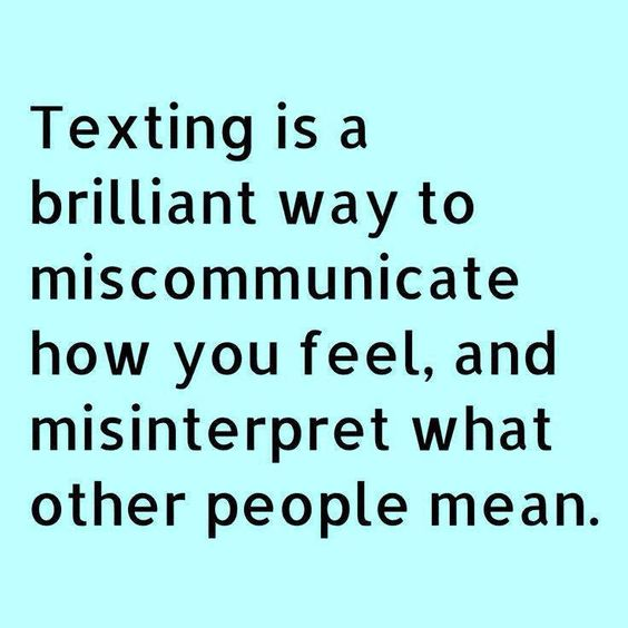 Interpreting what is being texted