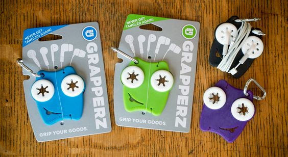 Our client, Mark Hildebrandt recently launched his new earbud holder product..Grapperz! Identity and packaging designed by NewFoundry. These are the best  - Never get tangled again!