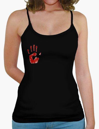 Camiseta Chica Tirantes, Mano Sangrienta  http://www.latostadora.com/rockenportada/camiseta_chica_tirantes_mano_/781727