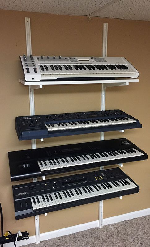 Algot multi tier synthesizer rack ikea ideas pinterest for Two tier desk ikea