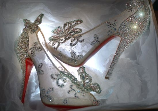 Christian Louboutin Cinderella Shoes made for Disney...so very pretty
