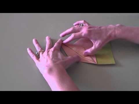 Folding with Gina: Half Crane - YouTube